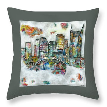 Music City Dreams Throw Pillow by Kirsten Reed