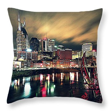 Music City Midnight Throw Pillow by Matt Helm