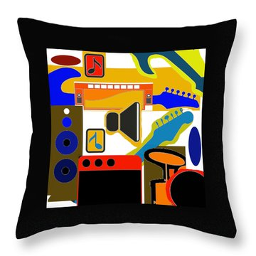 Music Collage Throw Pillow