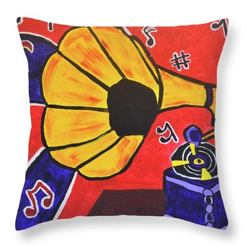 Throw Pillow featuring the painting Music First by Christopher Farris