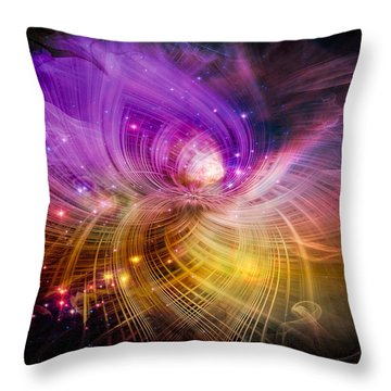 Throw Pillow featuring the digital art Music From Heaven by Carolyn Marshall
