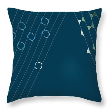 Music Hall Throw Pillow by Kevin McLaughlin