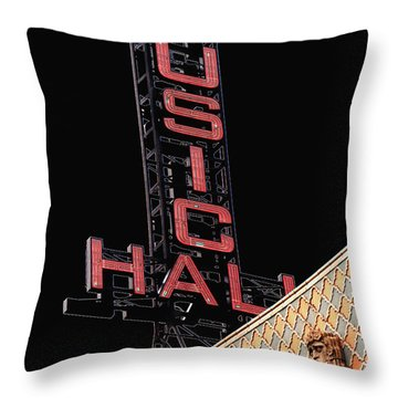 Music Hall Sign Throw Pillow