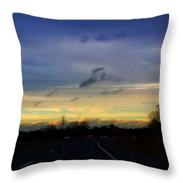 Music In The Sky Throw Pillow