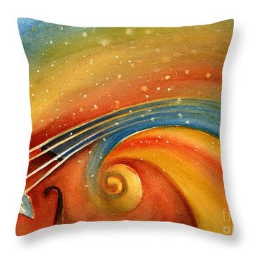 Music In The Spirit Throw Pillow by Allison Ashton