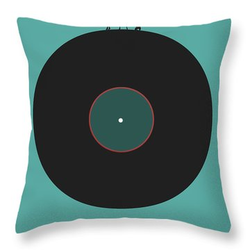 Music Is An Outburst Of The Soul Poster Throw Pillow by Naxart Studio