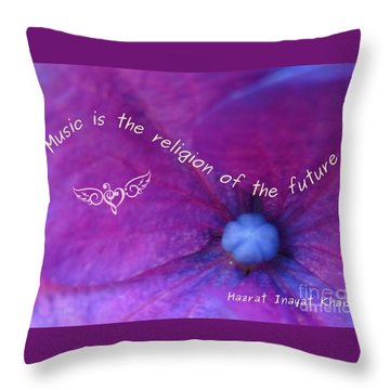 Music Is The Religion Of The Future Throw Pillow