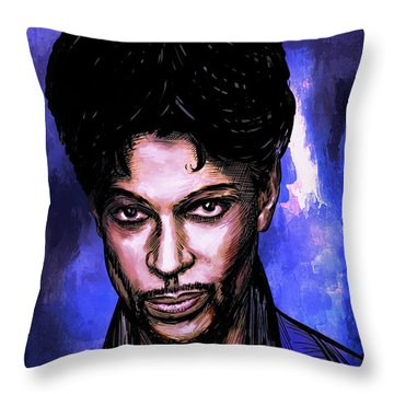 Music Legend  Prince Throw Pillow
