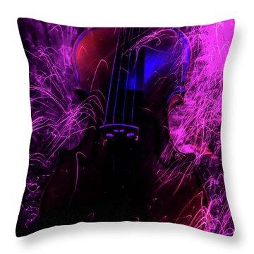 Music Light Painting  Throw Pillow