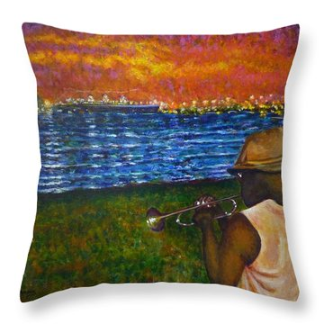 Music Man In The Lbc Throw Pillow