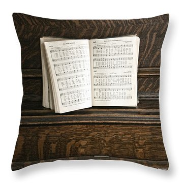 Music Throw Pillow by Margie Hurwich