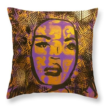 Music Mother  Throw Pillow by Miriam Moran