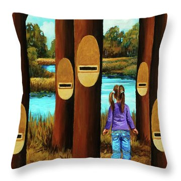 Music Of Forest Throw Pillow