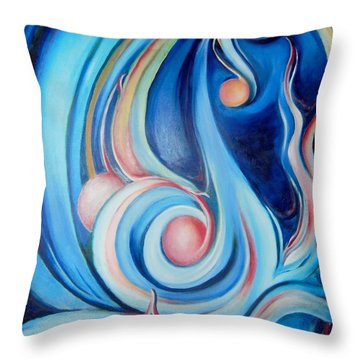 Music Of The Spheres Throw Pillow