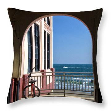 Music Pier Doorway View Throw Pillow