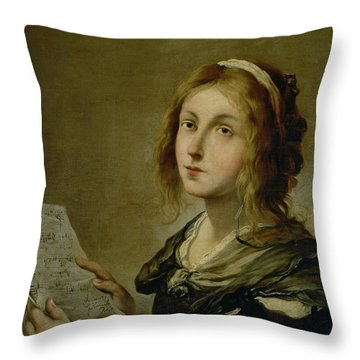 Music Throw Pillow by Salvator Rosa