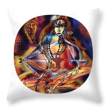 Music Shiva Throw Pillow