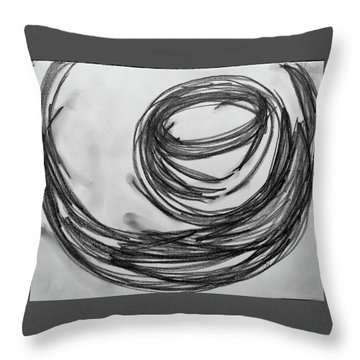 Music Sketch Study Leon Bridges Throw Pillow by Brenda Pressnall