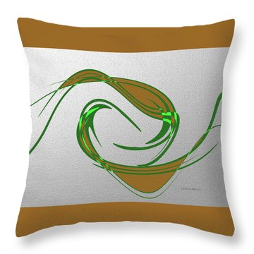 Music Takes Flight Throw Pillow by Lenore Senior