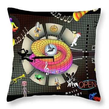 Music Therapy Throw Pillow