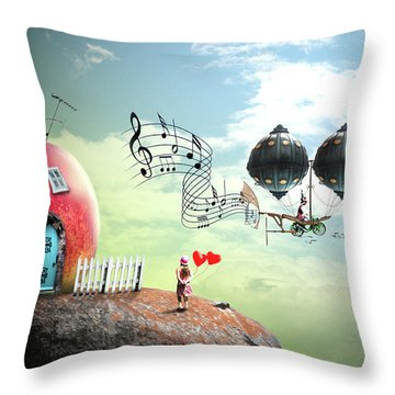 Music Traveler Throw Pillow by Nathan Wright