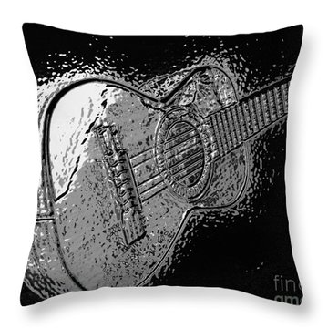 Musica With Chrome Effect Throw Pillow
