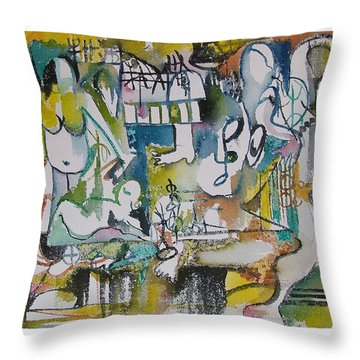 Musical Abstraction  Throw Pillow