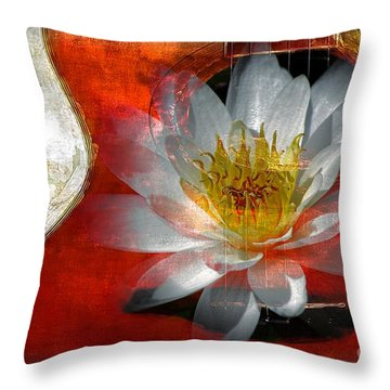 Musical Beauty Throw Pillow