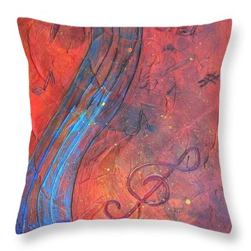 Musical Craze Throw Pillow
