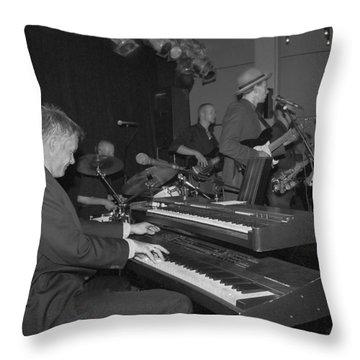 Musical Jazz Band Throw Pillow