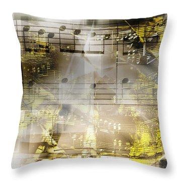 Musical Secrets Throw Pillow