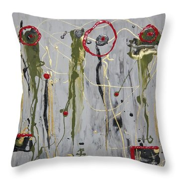Musical Strings Throw Pillow