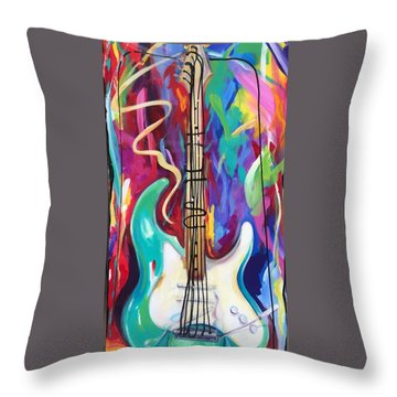 Musical Whimsy  Throw Pillow by Heather Roddy