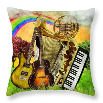 Musical Wonderland Throw Pillow