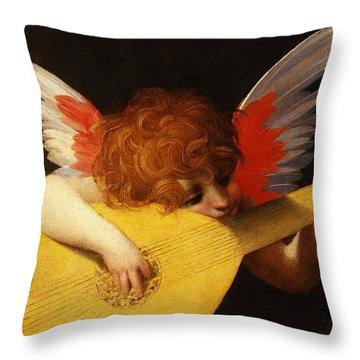 Musician Angel Throw Pillow