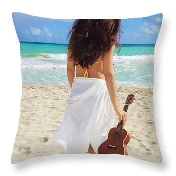 Musicians Paradise Throw Pillow by Tomas Del Amo - Printscapes