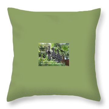 Throw Pillow featuring the photograph Musicians Rosh Hashanah by Linda Feinberg