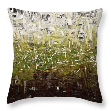 Throw Pillow featuring the painting Musing by Carmen Guedez