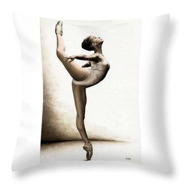 Musing Dancer Throw Pillow