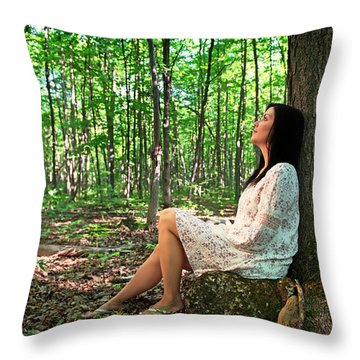 Throw Pillow featuring the photograph Musing.. by Nina Stavlund