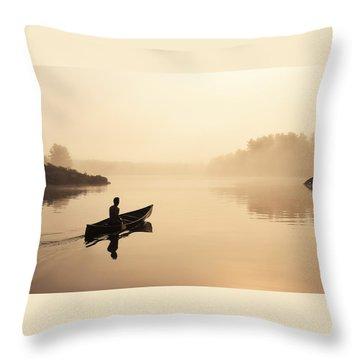 Muskoka Morning Throw Pillow