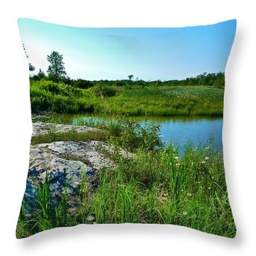 Throw Pillow featuring the photograph Muskoka Ontario 4 by Claire Bull