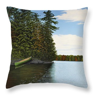 Muskoka Shores Throw Pillow