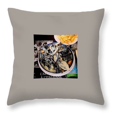 Mussels At France Throw Pillow