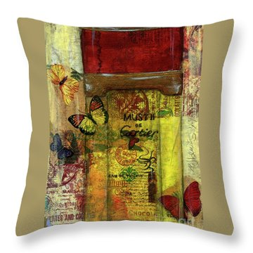 Throw Pillow featuring the painting Must De Cartier by P J Lewis