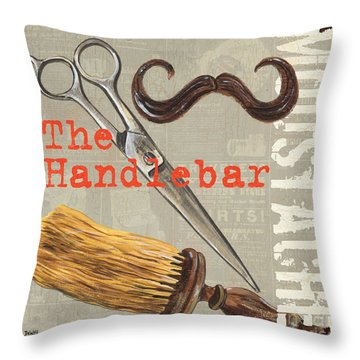 Mustache 1 Throw Pillow