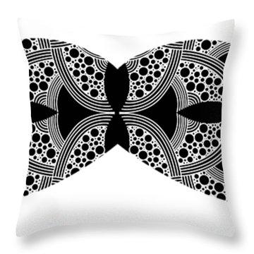 Mustache Tee Throw Pillow
