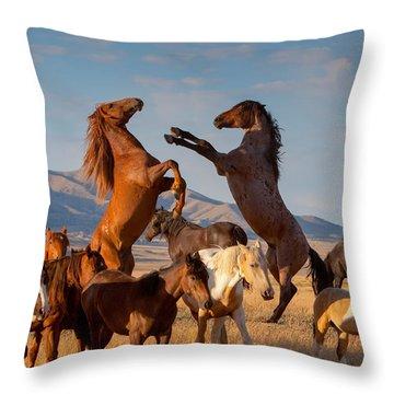 Mustang Clash Throw Pillow