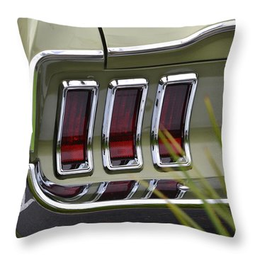 Mustang Fastback In Green Throw Pillow