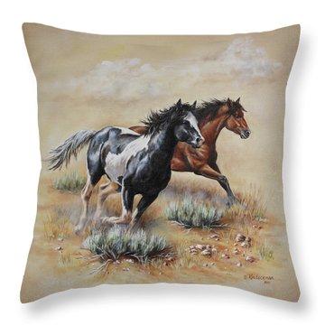 Mustang Glory Throw Pillow